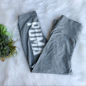 PUMA | Grey crop leggings